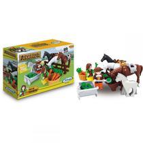 Brinquedo para montar - fazenda dia de colheita 89 pcs - xalingo -