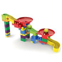 Brinquedo para Montar Super Circuito 52 Pecas Blocolandia Dismat MK355 -