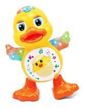 Brinquedo Pato Dancing Duck Patinho Dançante Led Pilha -