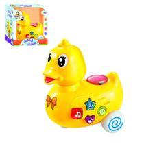 Brinquedo Pato Patinho Baby com Som Luz e Rodinhas Wellkids - Wellmix