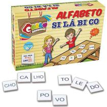 Brinquedo Pedagógico Alfabeto Silabico 150 Pçs - Carlu -