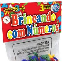 Brinquedo Pedagogico Brincando com Numeros 56 PCS - GNA