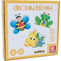 Brinquedo Pedagogico Madeira ABC dos Bichos 52 PCS - GNA
