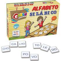 Brinquedo Pedagogico Madeira Alfabeto Silabico 150 Pecas - Carlu