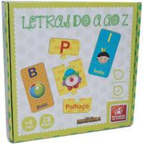 Brinquedo Pedagógico Madeira Letras do A ao Z 78 Pçs Brincadeira de Criança -