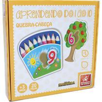 Brinquedo Pedagogico Madeira Quebra Cabeca Numeros 1 AO 10 - GNA