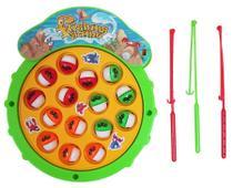 Brinquedo Pega Peixe a Pilha 20 Cm c/ 3 Varinhas - 123749 - Ark brasil