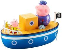 Brinquedo peppa pig barco do vovo pig com 2 bonecos - sunny -