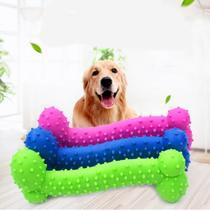 Brinquedo Pet Anti-Stress Mordedor Osso Cravo Cachorro 15cm Massageador Gengival Limpa Dentes Verde - Western