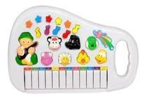 Brinquedo Piano Eletrônico Infantil Com Luz e Sons de Animais - Dm Toys