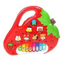 Brinquedo Piano Teclado Infantil Bichos Musical Moranguinho - Dm Toys