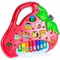 Brinquedo Piano Teclado Infantil Bichos Musical Moranguinho - King Toys