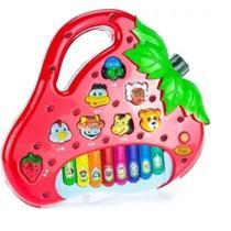 Brinquedo Piano Teclado Infantil Bichos Musical Moranguinho - King