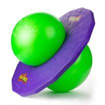 Brinquedo Pogobol Pula Pula Clássico Roxo e Verde Estrela -