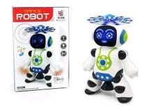 Brinquedo Que Robô Dança Gira 360 Emite Luzes E Musica Robot - Yijun