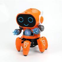 Brinquedo Robô Aranha Dançarino 6 Pernas Com Luz, Som Cyber Bot LARANJA - Fungame - Toy King