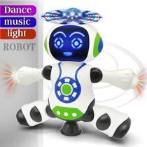 Brinquedo Robô Dança Gira 360 Graus Robot Som & Luz Yijun -