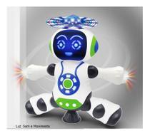 Brinquedo Robô Dança Gira 360 Graus Robot Som _ Luz - Yijun