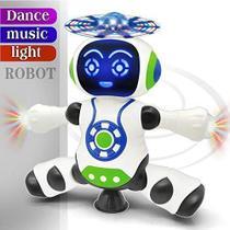 Brinquedo Robô Dançarino Dança Emite Som Gira Inmetro - Yijun