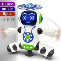 Brinquedo Robô que dança e Gira 360 Luz Musica Dance Robot - Yijun