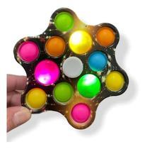 Brinquedo Spinner Com Led Anti Stress Pop Fidget Toy Bolha - toys