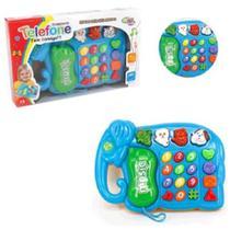 Brinquedo Telefoninho  Musical Elefante com Som e Luzes - Wellmix