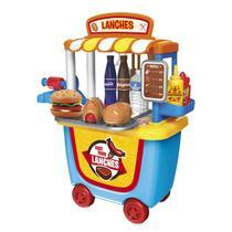 Brinquedo Tendinha Fast Food Xalingo 33 Peças Azul E Amarelo -