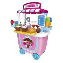 Brinquedo Tendinha Sorveteria Xalingo 1097.6 31 Peças Rosa E Azul -