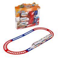 Brinquedo trem expresso hero squad com 7 peças - Wellmix