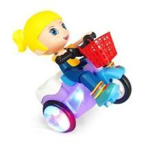 Brinquedo Triciclo Bate Volta Empina Gira 360 Som Luz Menina - TOYS