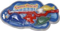 Brinquedo Vamos Pescar Vara de Pesca Molinete + 4 Peixes - 133432 - Pica pau