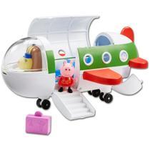 Brinquedo Veículo Avião E Mini Boneca Peppa Pig - Dtc -