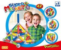 Brinquedos educativos de Montar para crianças 3D Super Magnetic 42 Pçs - Sm