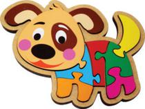 Brinquedos educativos - Quebra-cabeça em madeira Cachorrinho (11 peças) - Maninho Artesanatos