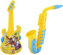 Brinquedos Etitoys Kit Guitarra e Saxofone do Mickey - Etilux