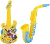Brinquedos Etitoys Kit Guitarra e Saxofone do Mickey - Etilux