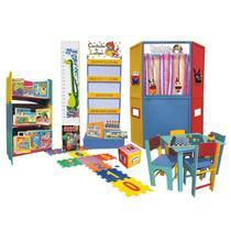Brinquedoteca com Móveis - Educativa em Madeira - Multicolorido - Ciabrink -