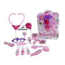 Briquedo infantil menina kit medica com som luz e varios acessorios divertidos - Spider Import
