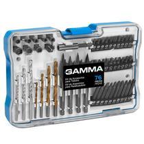 Brocas e  Acessórios para Furadeira e Parafusadeira 76 Peças Com Maleta - Gamma ferramentas