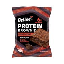 Brownie Protein Sem Glúten Zero Açúcar  Double Chocolate  com 10 unidades de 40g - Belive -