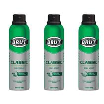 Brut All Day Classic Desodorante Aerosol 48h 150ml (Kit C/03) -