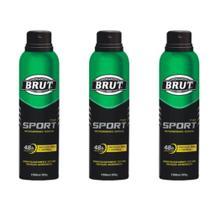 Brut All Day Sport Desodorante Aerosol 48h 150ml (Kit C/03) -