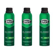 Brut Classic Desodorante Aerosol 48h 150ml (Kit C/03) -