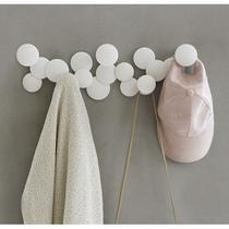 Bubble Cabideiro de Parede com 5 Ganchos Branco Umbra -