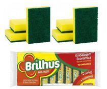 Bucha Esponja Para Lavar Louça Kit 10 Unidades - Brilhus