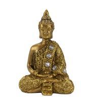 Buda Dourado Dhyani Mudra 8.5cm - Tascoinport