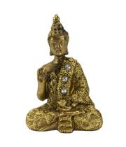 Buda Dourado Vitarka Mudra 8.5cm - Tascoinport
