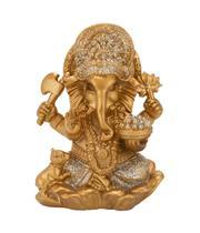 Buda Ganesha Dourado 10cm - Tascoinport