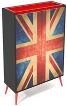 Buffet Bar Reino Unido 2 Porta Impressas com Bandeja - 32676 - Sun house