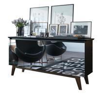 Buffet Classic Preto com Espelho - Imcal Móveis -